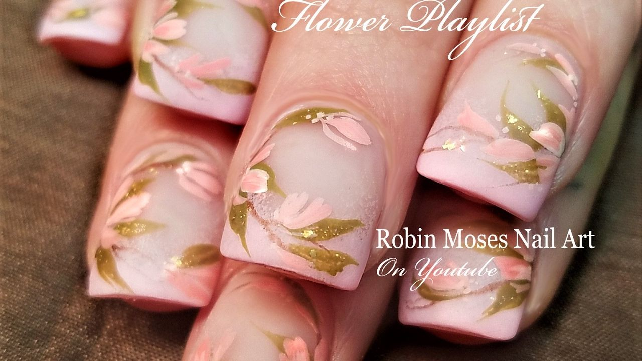 Diy Blush Pink Flower Nails Pretty Nail Art Design Tutorial Nail