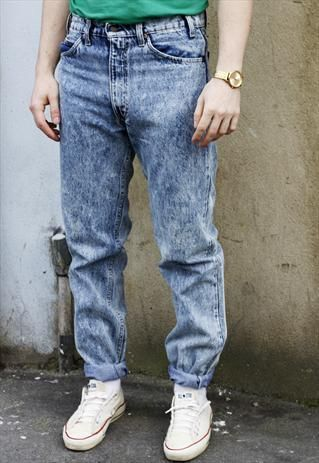 f125bd3f Vintage 90s Levi's 505 Acid Wash Blue Denim Jeans | acid washed ...
