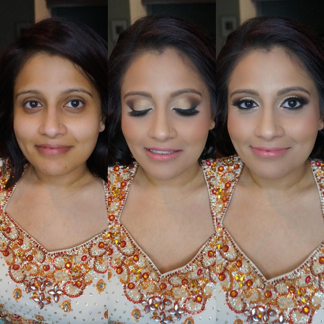 Indian bridal makeup Before and after Jenny Luu Hair