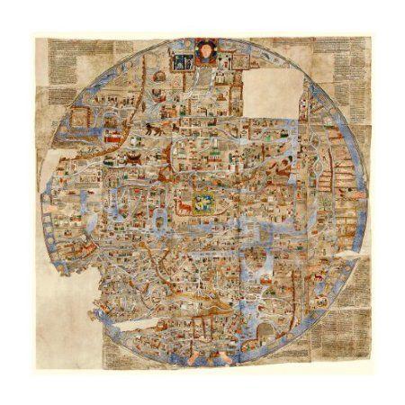 Ebstorf World Map Mappa Mundi 1234 AD httpswwwbattlemaps
