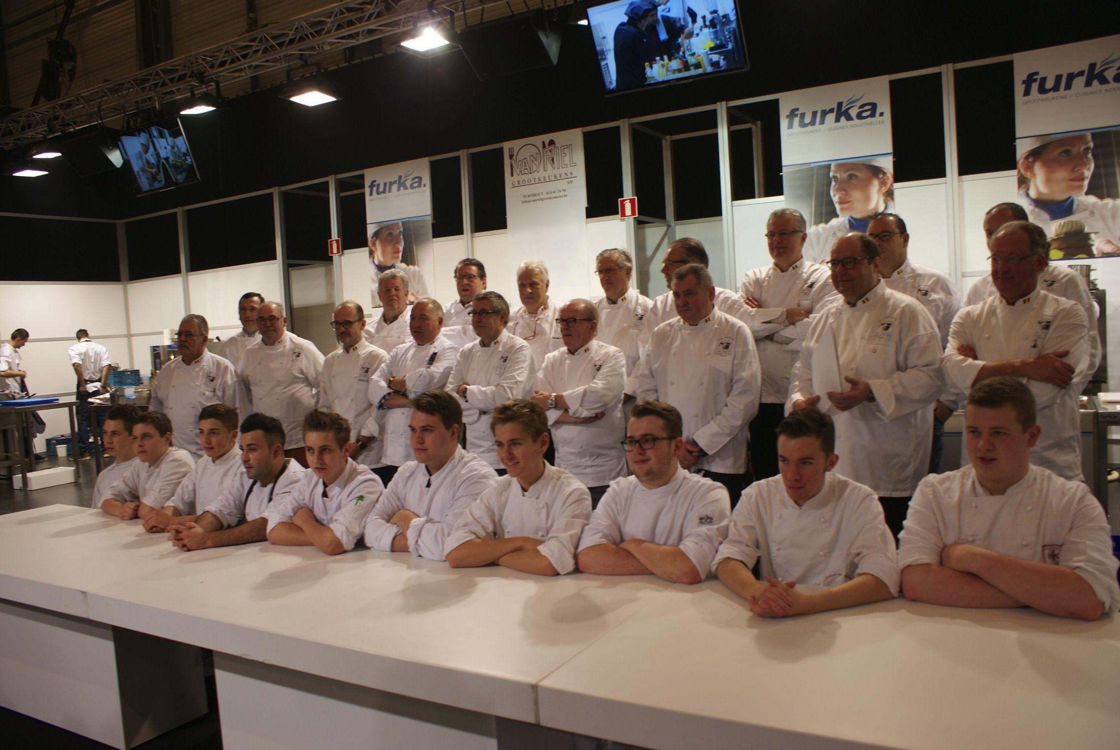 Daniele Soru en zijn commis Mallory Gabsi wonnen de Trophée Auguste Escoffier Benelux op Horeca Expo 2014.