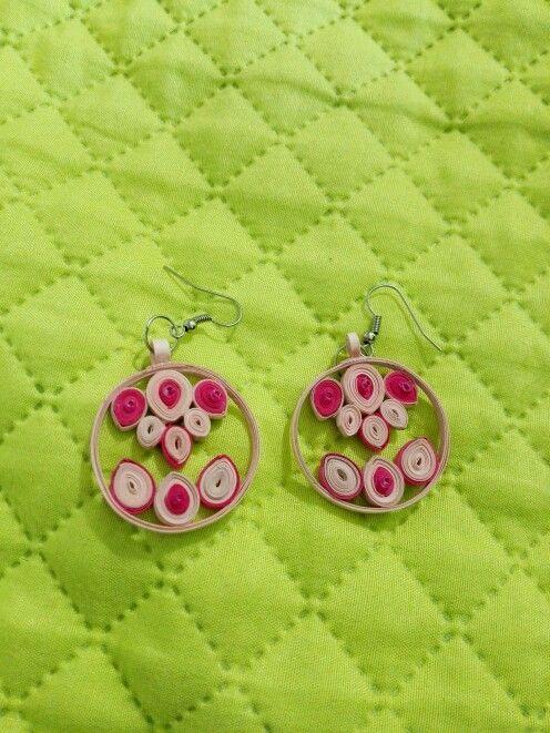 Orecchini pink quilling