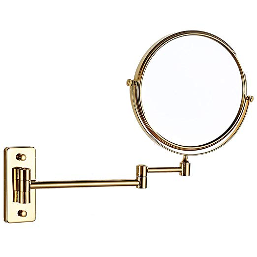 Amazon Com Cavoli 8 Inch Bathroom Two Sided Swivel Wall Mounted Mirror With 10x Magnification Gold Finish 8in 10x Beauty Magnifying Mirrors Wall Mou