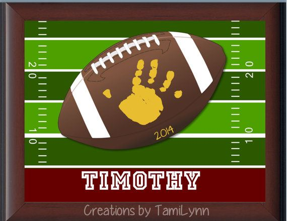 Football Field Handprint Personalized By