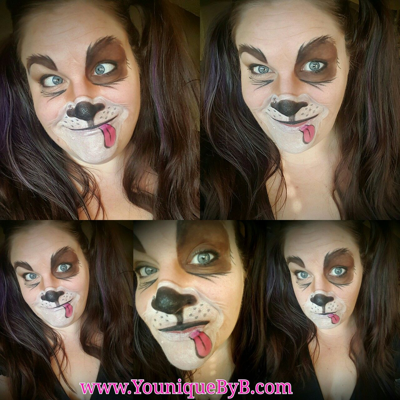 Happy Puppy Dog Makeup Using all Younique Products Dog