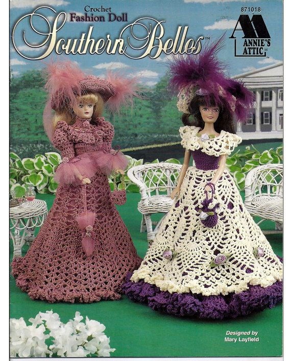 Fashion Doll Southern Belles / Crochet Pattern Book 871018 / Annies ...