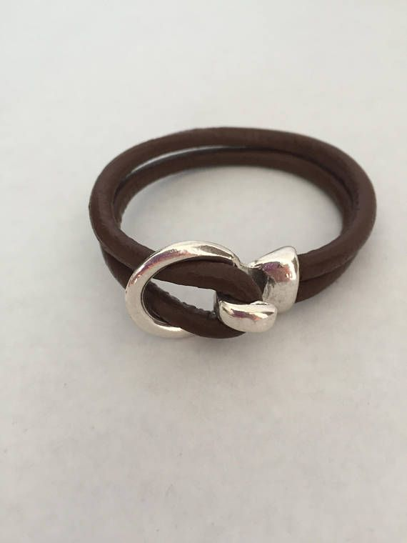 31203bda3892ff Women Leather Bracelet Man Leather Bracelet Antique Silver. Women Leather  Bracelet Man Leather Bracelet Antique Silver Nautical Jewelry ...