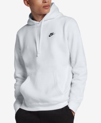 Nike Men's Pullover Fleece Hoodie - White XL Tall | Nike ...
