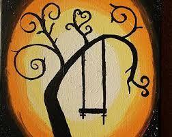 Résultats de recherche d'images pour «silhouette balancoire dans un arbre»