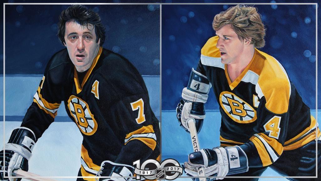 Phil Esposito, Bobby Orr portraits unveiled Bobby orr