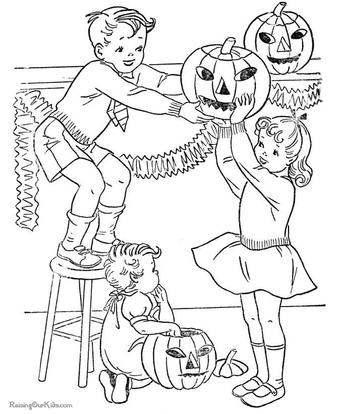 image result for coloring page kiddie halloween party - Barbie Halloween Coloring Pages