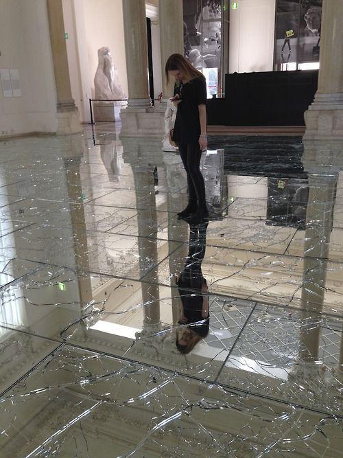Broken glass floor museum