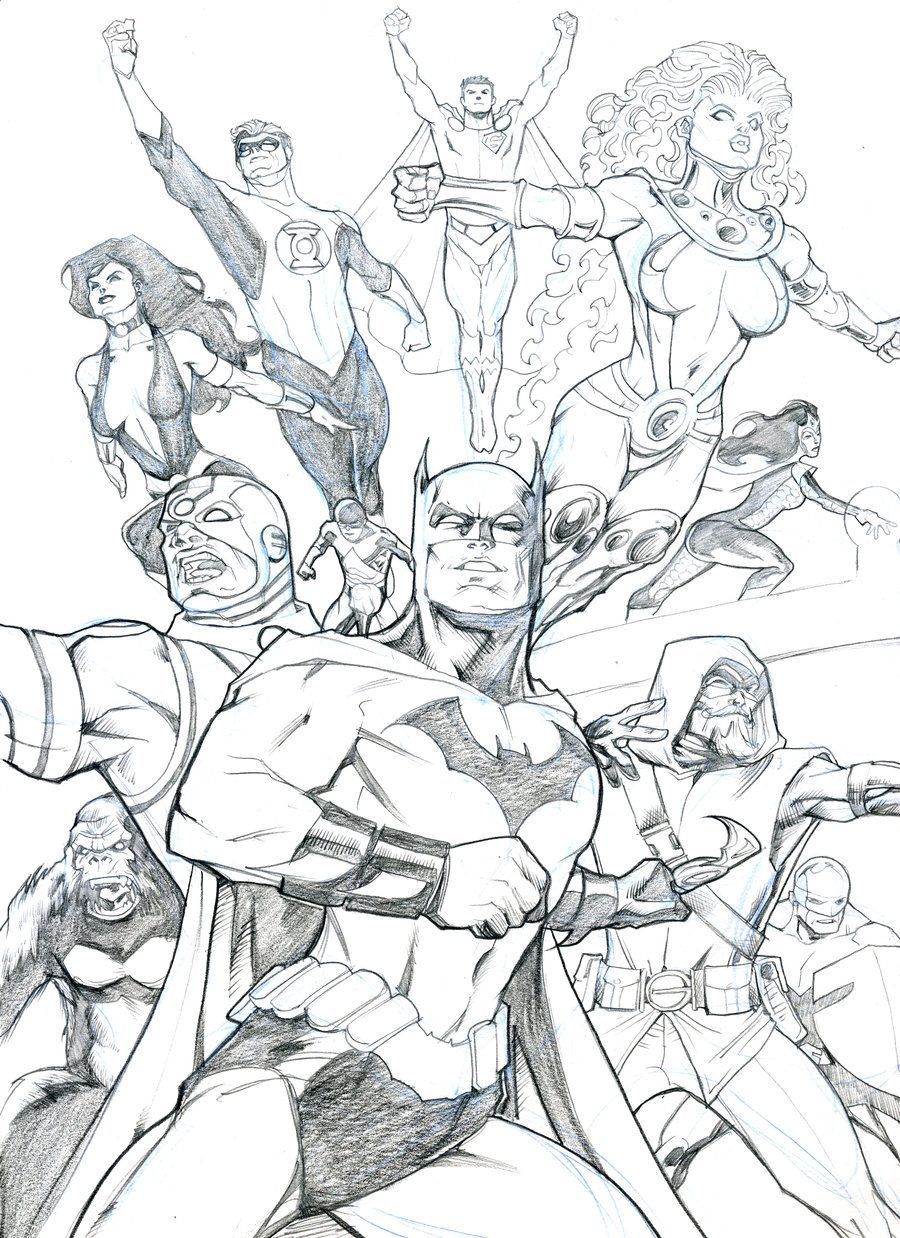 Justice League 2010 sketch by guinnessyde.deviantart.com on ...