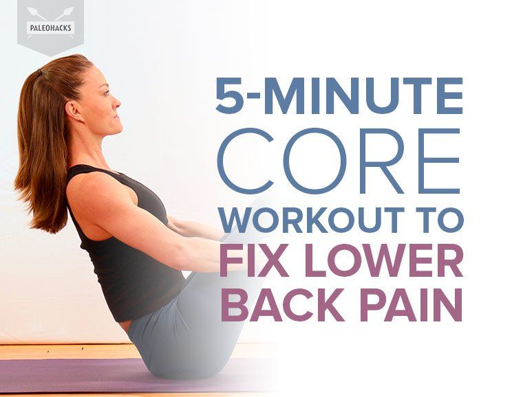5-Minute Core Workout to Fix Lower Back Pain