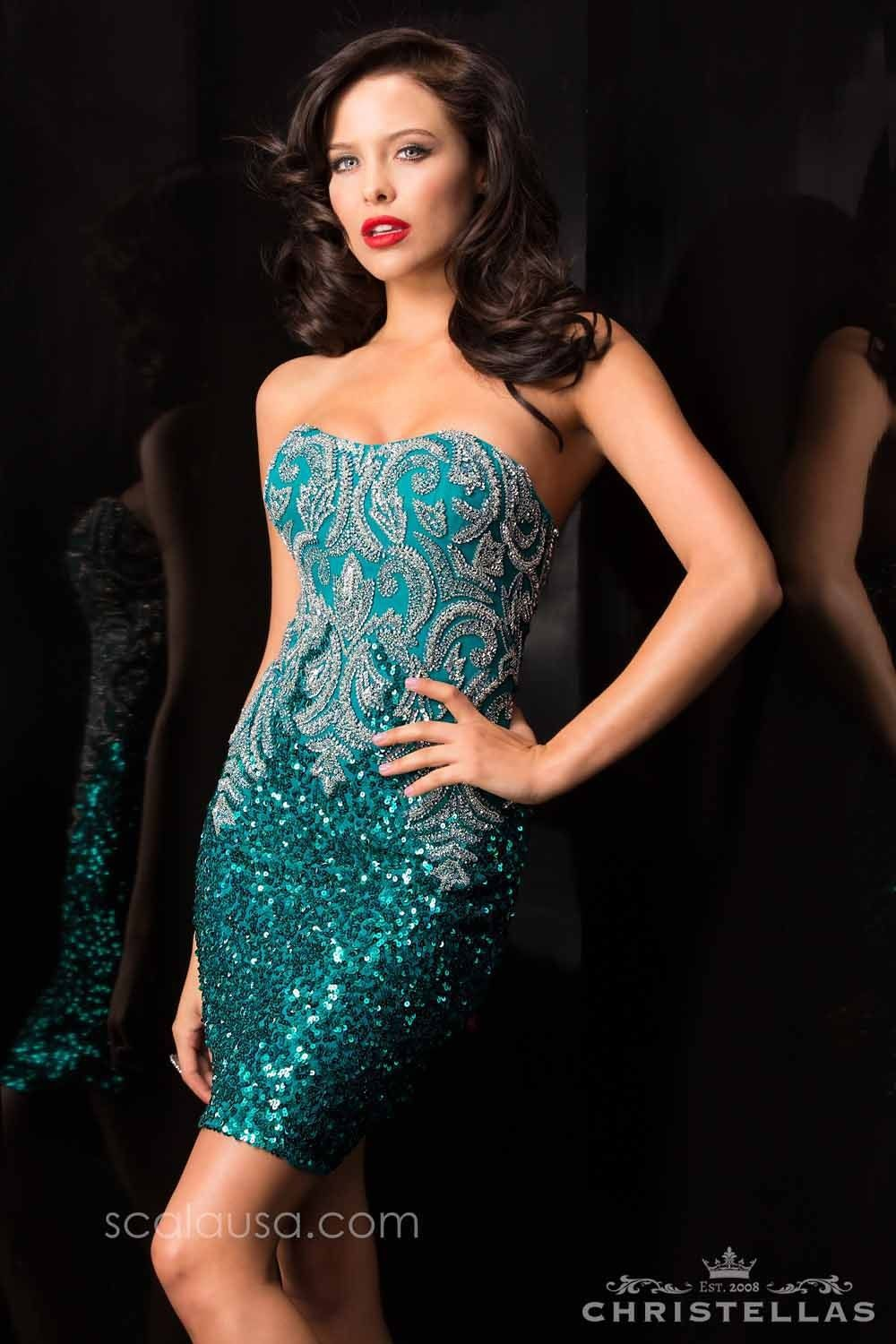 SCALA FALL 2016 STYLE 48578 DARK TEAL. #scalausa #sequins ...