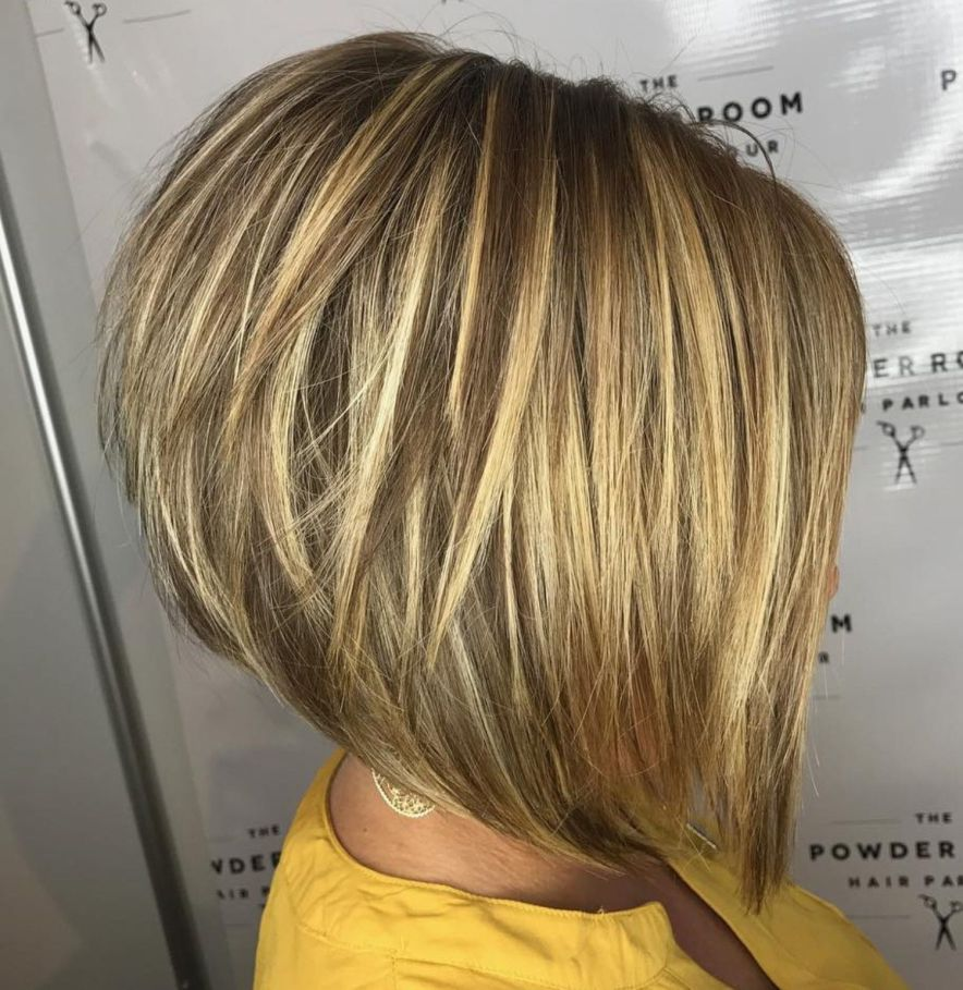 Shiny Blonde Sliced Pixie Bob In 2019 Stacked Haircuts