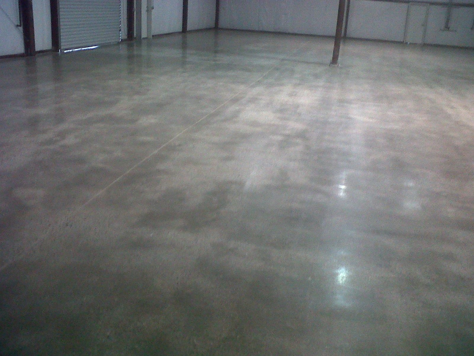Modern Light Fixtures Polished Concrete Floor