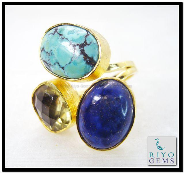 Multi Red Onyx Gems 18.Kt Gold Plating Promise Ring Sz 8 Gprmul8-5304 http://www.riyogems.com