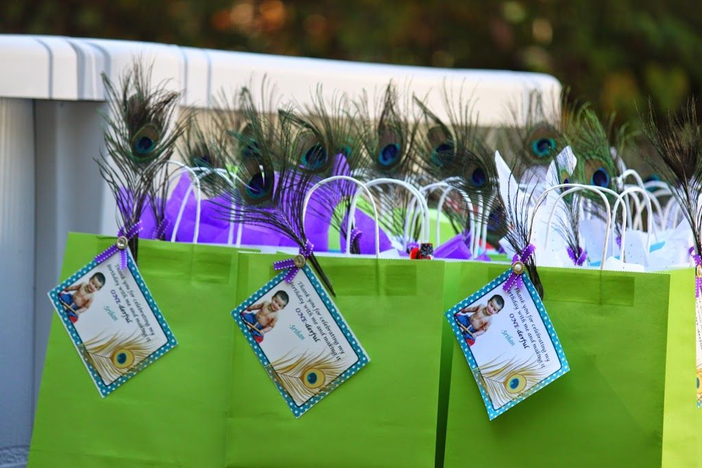 My Krishna Theme Party Created These Return Gift Bags Inspiration Fancy Peacock Cups