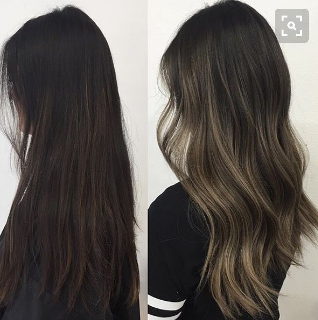 long dark brown wavy hairstyel hair pinterest haar ideen haare balayage und haare und beauty. Black Bedroom Furniture Sets. Home Design Ideas