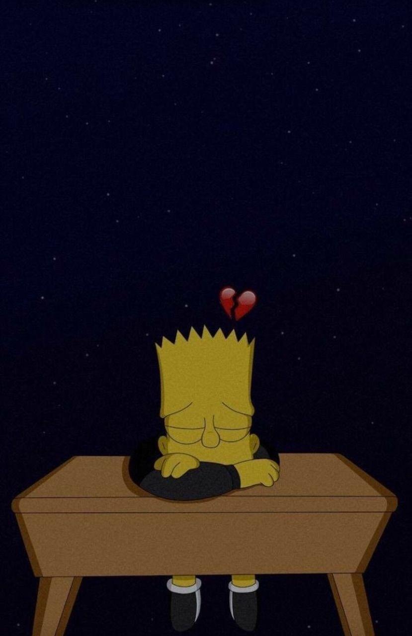 Pin On Noah Broken heart bart simpson sad wallpaper