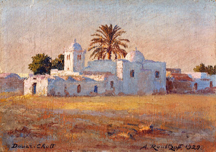 Peinture Algerie Douar Chott A Roubtzoff 1929 Peinture