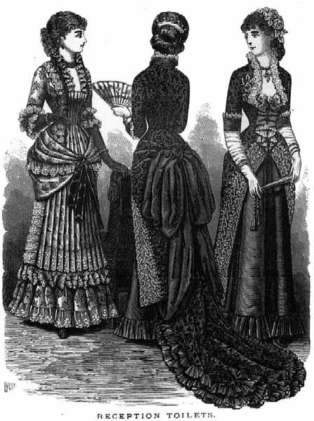 8aa978abaa9f 1880s fashion plates evening gowns | Fashions of the 1880s: Evening Dress