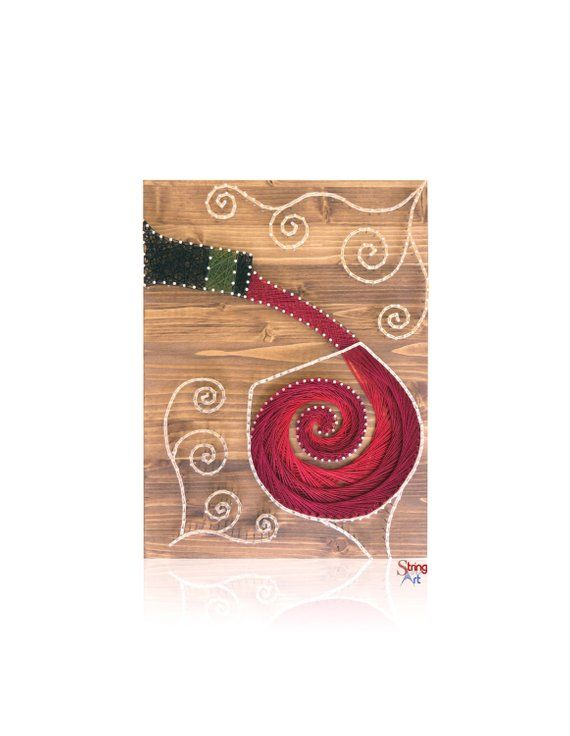 Wine String Art Kit | DIY Kit Includes All Crafting Supplies | Wine Lover Gift | String Art Patterns