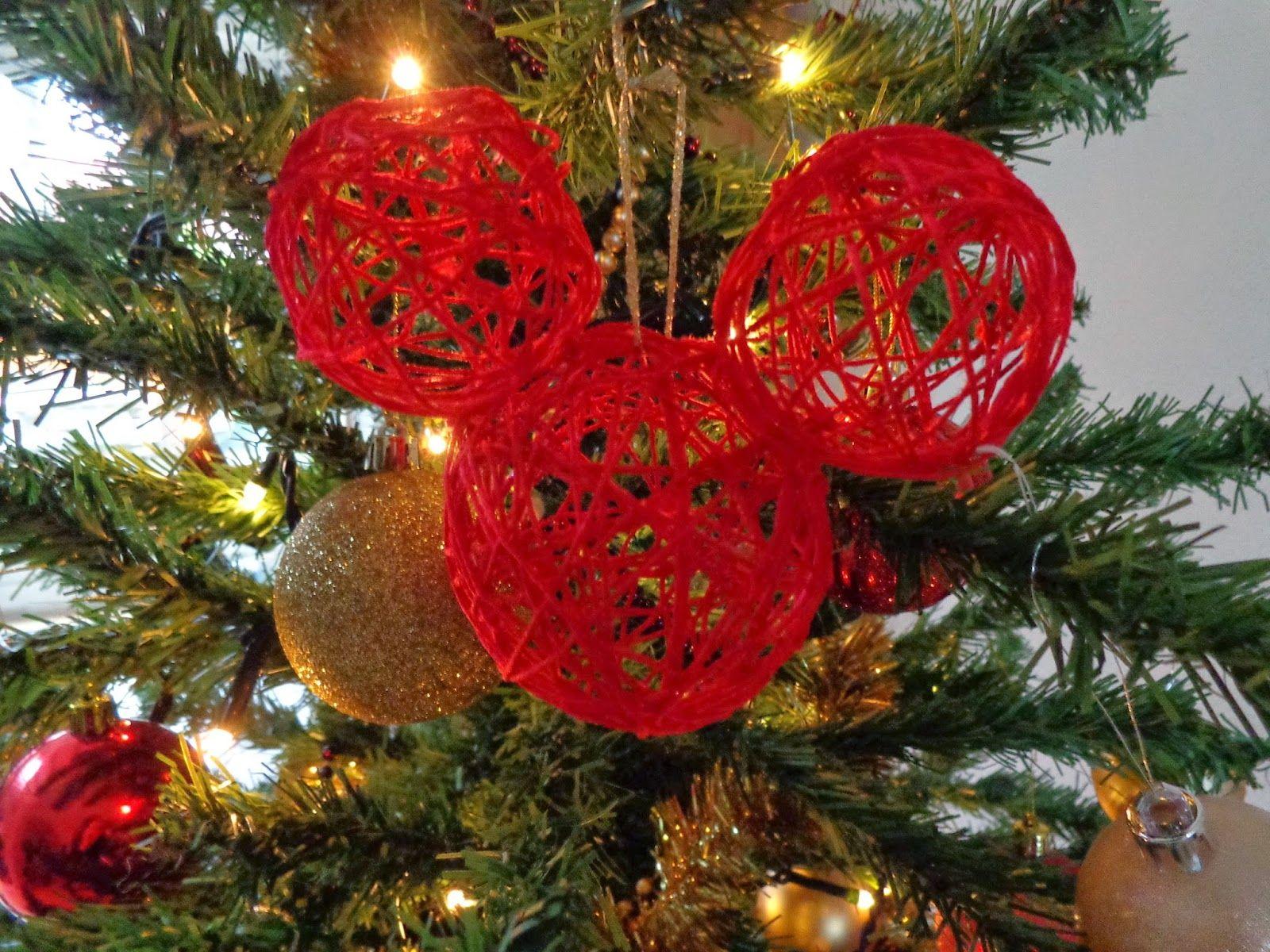 Craft: DIY String Mickey Christmas baubles