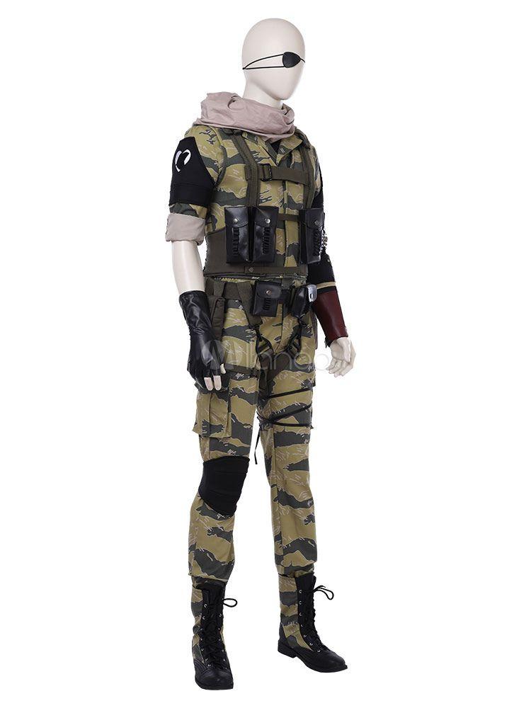 4d685d897f Metal Gear Naked Snake Halloween Cosplay Costume Fantasias