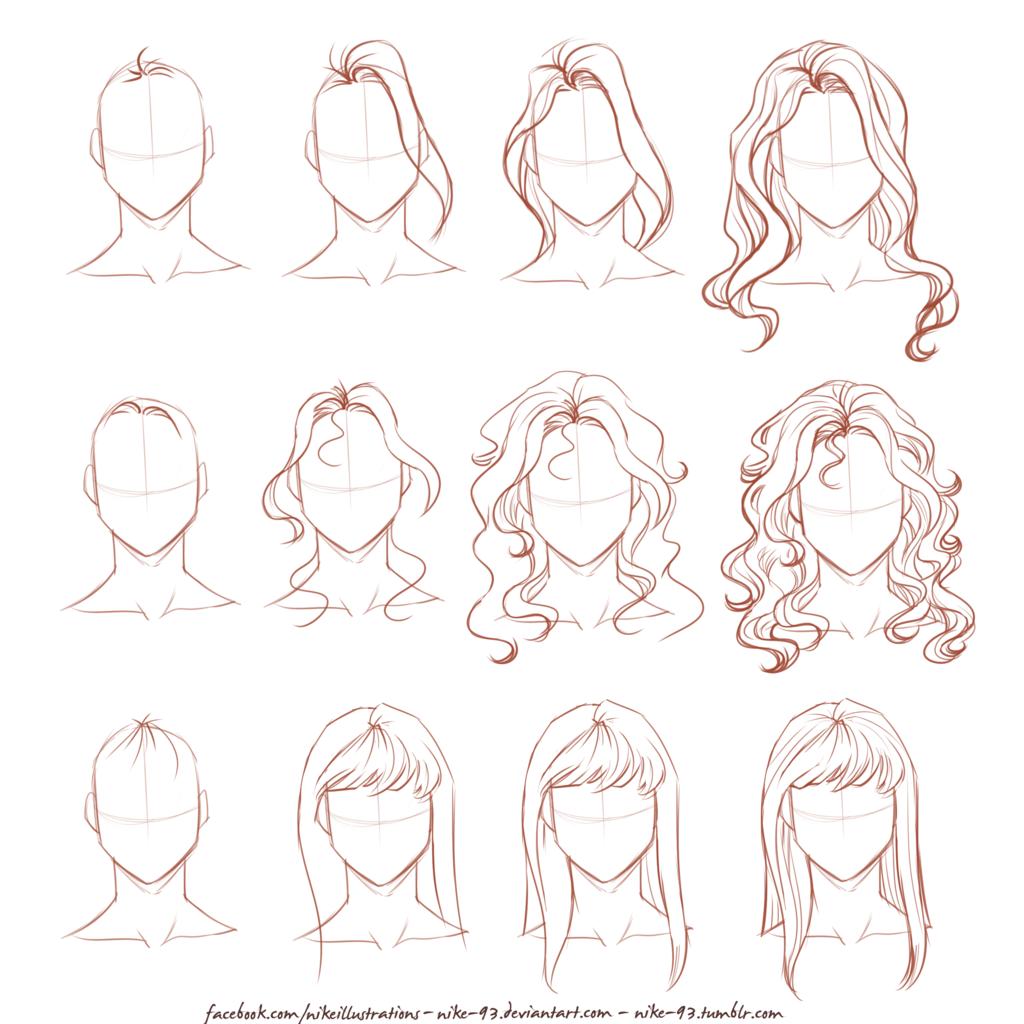 draw long hair