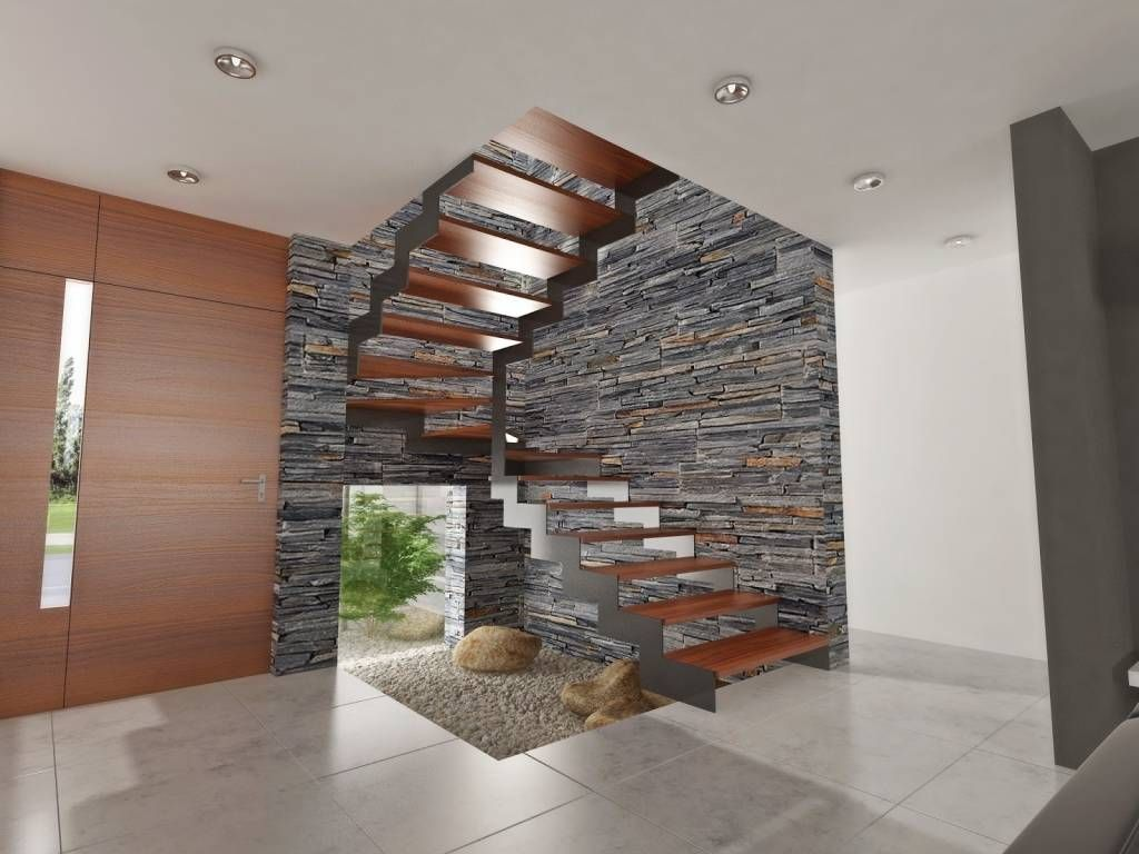 7 dise os de escaleras perfectas para casas modernas for Diseno pasillos interiores