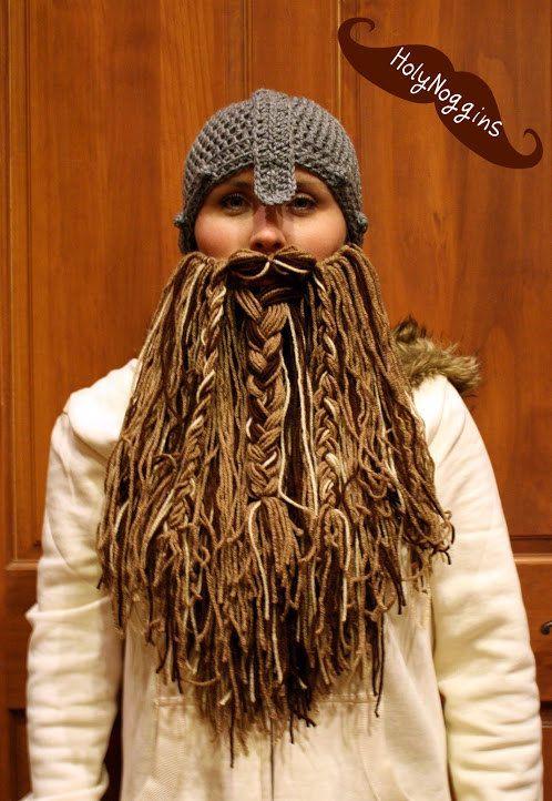 Hobbit Viking Beard and Hat (Choose your beard color) Beard can be ...