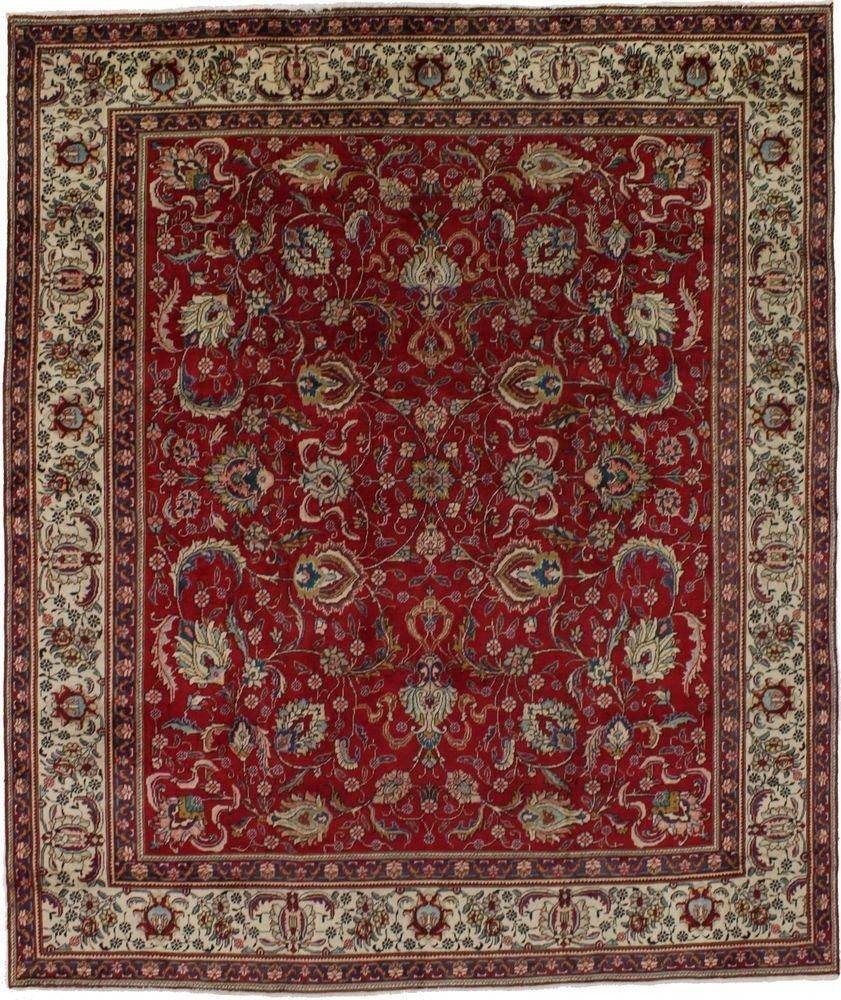 10x12 Nice Allover Floral Tabriz Persian Rug Oriental Area Carpet Sale 9 7x11 5 Staircarpetrunnersebay Area Carpet Carpet Sale Stair Runner Carpet