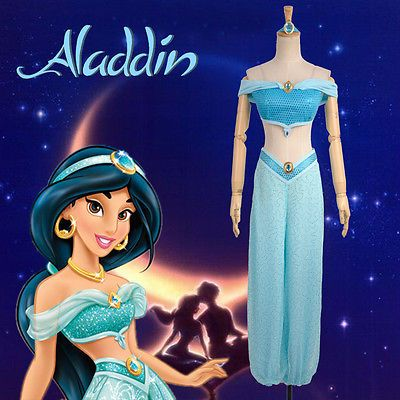 #Disney #anime Lamp Of Aladdin Princess Jasmine Adult #dress Cosplay  Costume, View