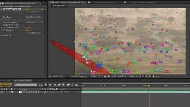 After Effects - 2D Track from 3D Camera Tracking | tuts__AE