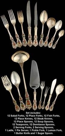 Francis I by Reed and Barton Sterling Silver Fish Serving Set 2 Piece Custom