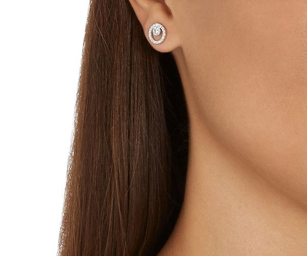 Creativity Circle Small Pierced Earrings from #Swarovski