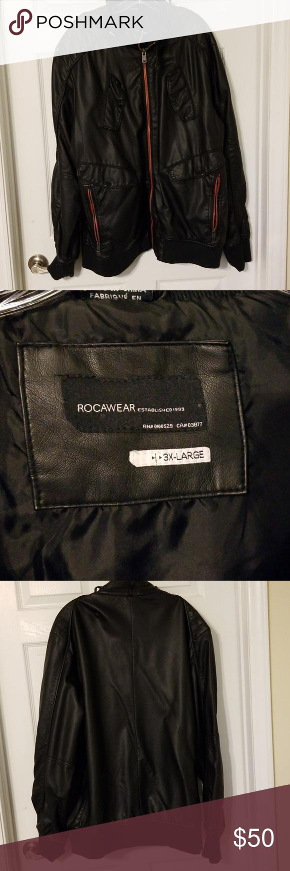 Men 3x Rocawear Leather Bomber Jacket Men 3x Rocawear Used Black Leather Bomber Jacket This Jacket Has 4 Poc Black Leather Bomber Jacket Bomber Jacket Jackets [ 1740 x 580 Pixel ]