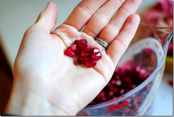 Pomegranate seeds are bursting with antioxidant rich juice. I'll show you how to de-seed and eat a pomegranate with minimal muss and fuss.