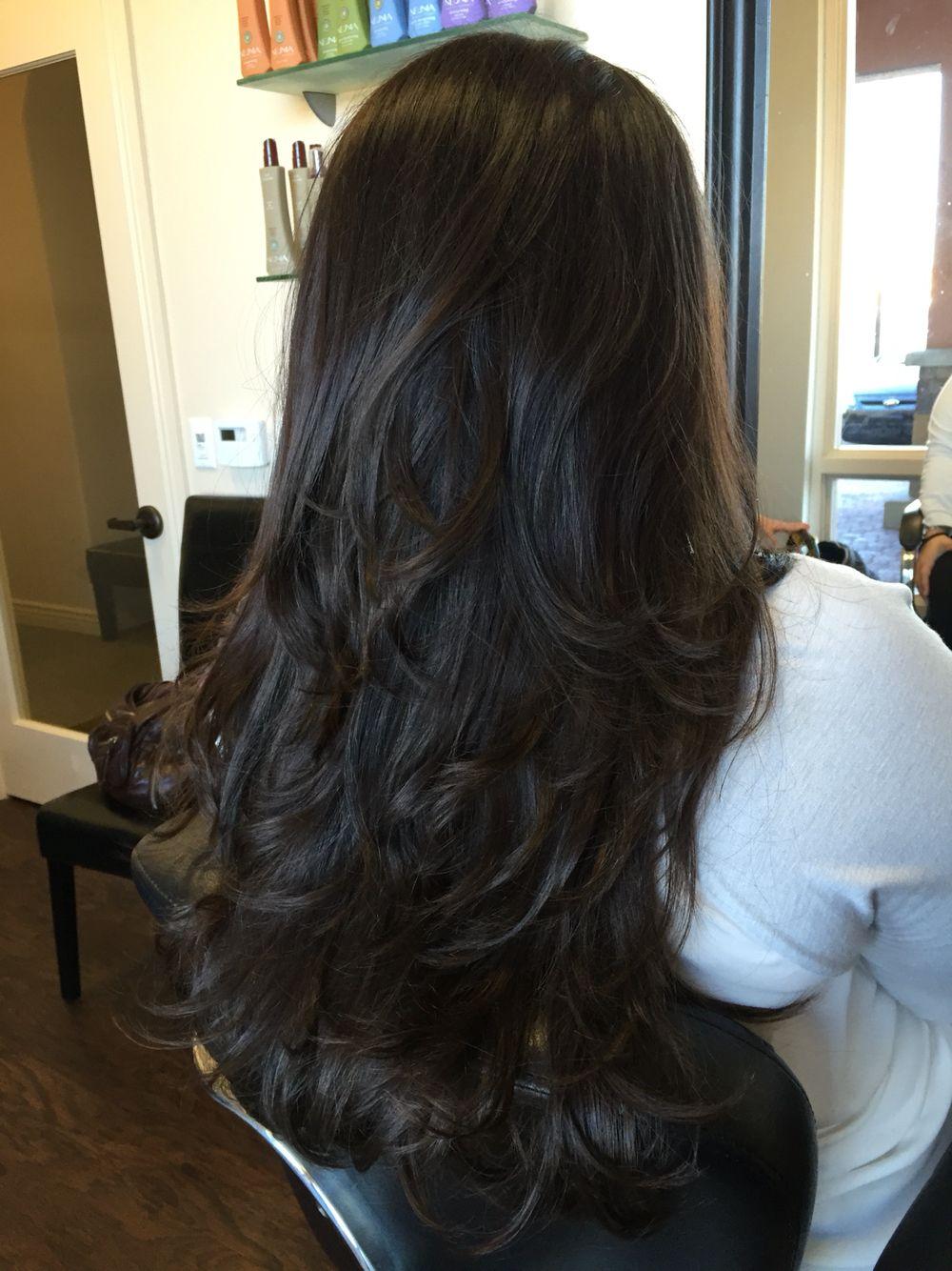 Shear Designs By Liana Brunette Hair Dark Hair Long Hair Layered Haircut Long Hair Styles Long Layered Hair Hair