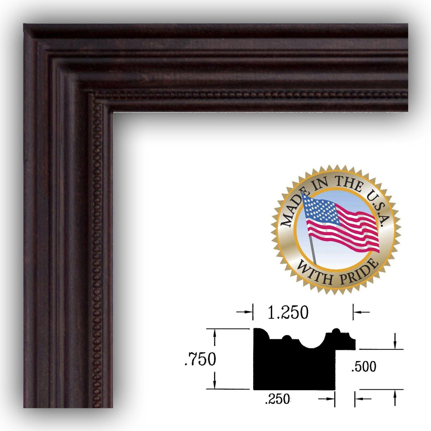 Amazoncom 20x28 20 X 28 Dark Cherry Stain Picture Frame New