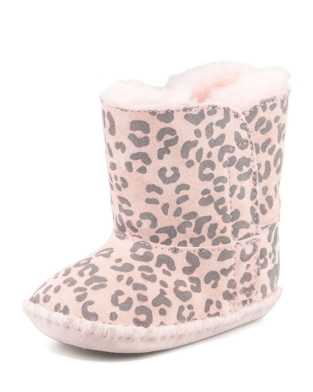 adfe46611ee Cassie Leopard-Print Bootie Baby Pink   *Neiman Marcus*   Baby uggs ...