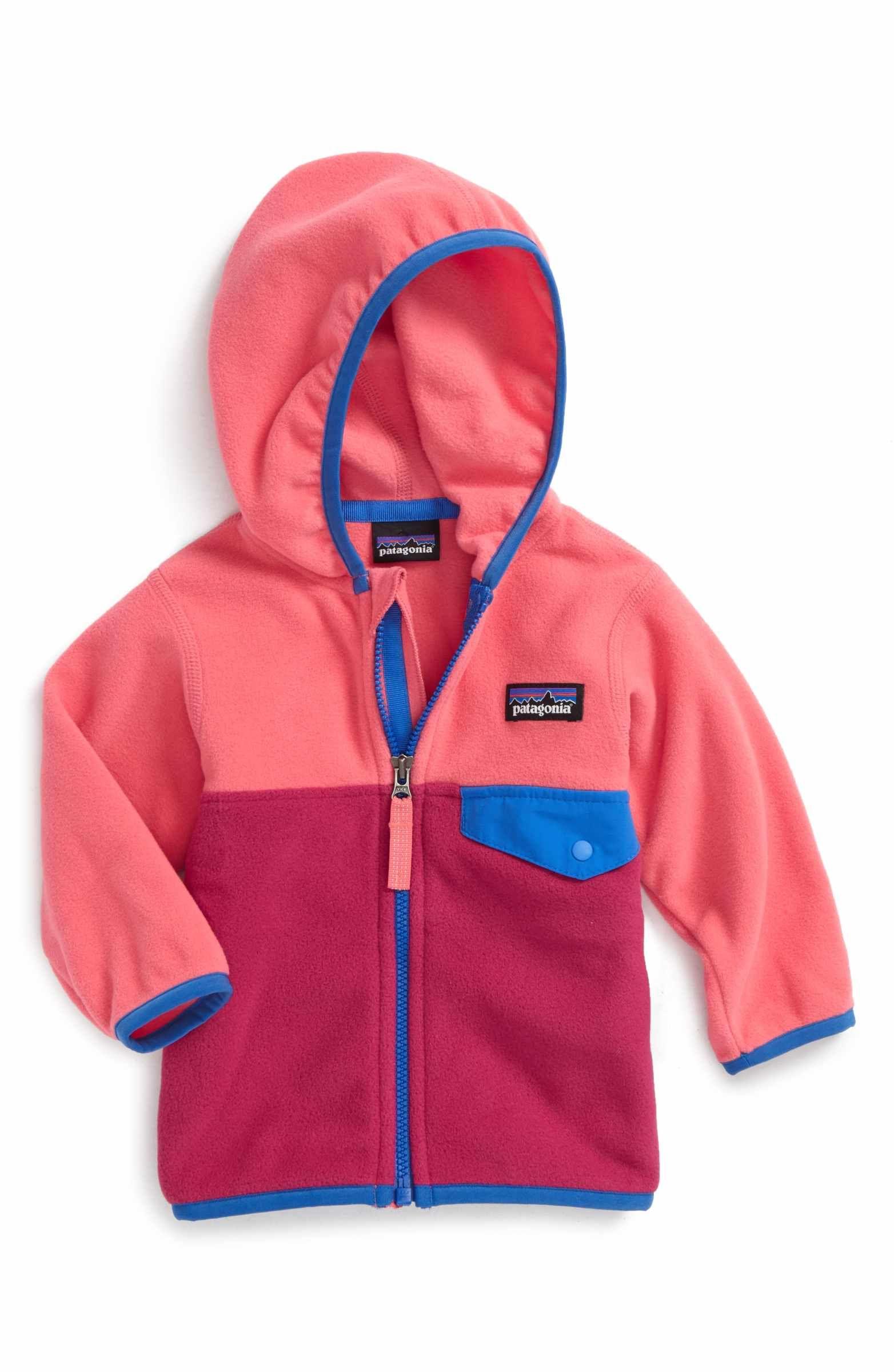 f68c681e2 Main Image - Patagonia Micro D® Snap-T® Fleece Jacket (Baby Girls ...