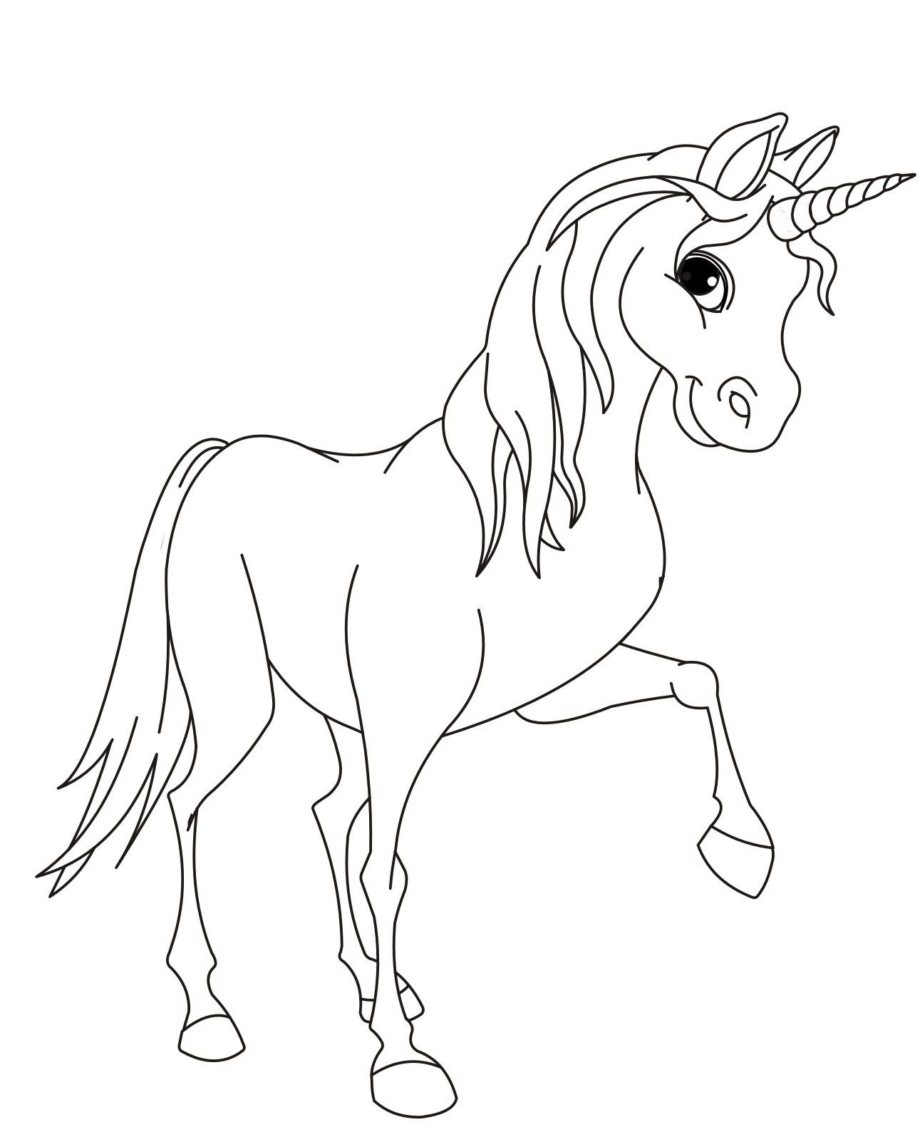 Malvorlagen Einhorn Kostenlos 05 Kinder Unicorn Coloring Pages