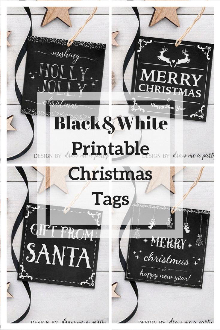 I Love The Black And White Gift Tags It Looks Classy On Any Gift