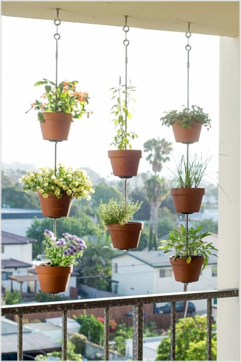 Awesome Hanging Plants On Apartment Balcony | Hanging ...