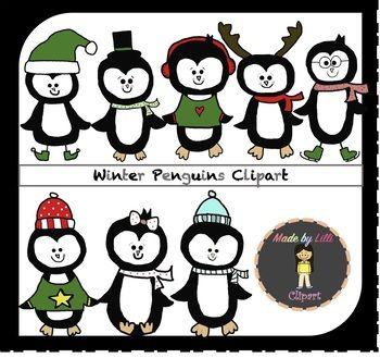 winter penguin clipart penguin clipart christmas clipart winter rh pinterest com Winter Clip Art for Teachers Winter Clip Art for Teachers