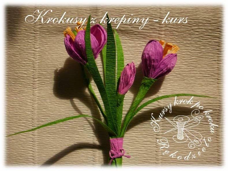 Krokusy Z Krepiny Jak Zrobic Kurs Obrazkowy Paper Flowers Diy Handmade Crochet Flowers