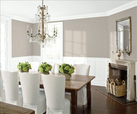 Saved Color Selections  Wainscoting Benjamin Moore And Ceilings Delectable Dining Room Color Schemes Decorating Design